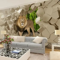 beibehang lion stone wall background graphic murales wallpaper for boys living room papel de parede 3d wall papers home decor