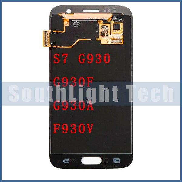 Grado AAA + + + Super AMOLED para Samsung Galaxy S7 G930 G930F G930A G930V G930P G930T pantalla LCD lTouch Montaje del digitalizador de pantalla