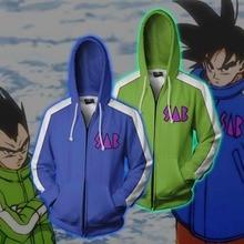 Cloudstyle men zip up hoodies dragon ball super jaqueta 3d vegeta garoto goku impresso anime com capuz cosplay zip up casacos moletom
