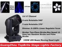 cheap price 150w led moving head spot stage lighting dmx 1317 channels high quality 150w 8 prism led moving head beam lights
