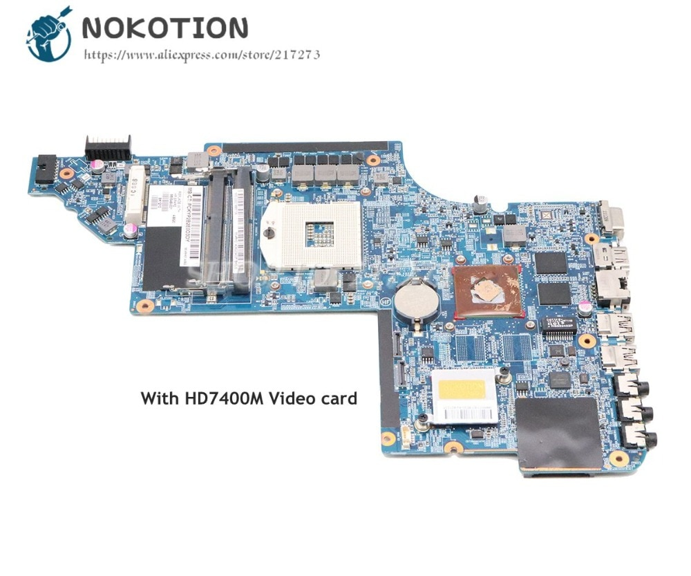 NOKOTION 665348-001 para HP Pavilion DV6 DV6-6000 placa base HM65 DDR3 HD7400M tarjeta de vídeo