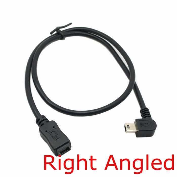 90 Degree Mini Usb 5 Pin Male To Mini Usb Female Extension Cable Left Right 90 Angled Mini Usb 5pin Extend Cable 0 5m 50cm 90 Degree Mini Usb Angle Mini Usbright Angle Mini