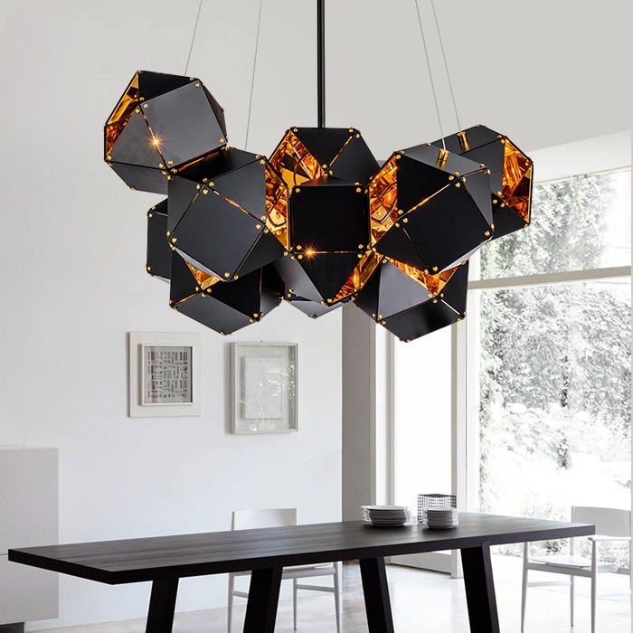Lámpara colgante nórdica moderna de metal Toro creativa DNA design hotel club modelo habitación colgante