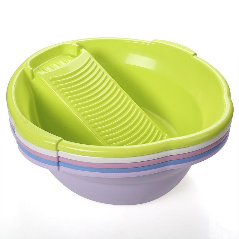 Bacia de plástico para lavar roupa, bacia para lavatório, sincronização, sudsy