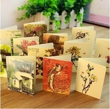 Livraison gratuite! 1 lot = 56 pc! Style rétro chinois souhaite petite carte de voeux/carte mignonne/vacances cartes de mariage stock