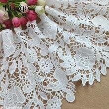 Buulqo garniture en dentelle Polyester blanc noir   100*19cm, ruban brodé couture artisanale, vêtement et décoration de la maison, bricolage