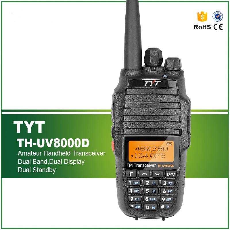 Upgrade Version TYT TH-UV8000D Dual Band Handheld 136-174/400-520MHz 10W FM THUV8000D 3600mA Transceiver Radio Walkie Talkie