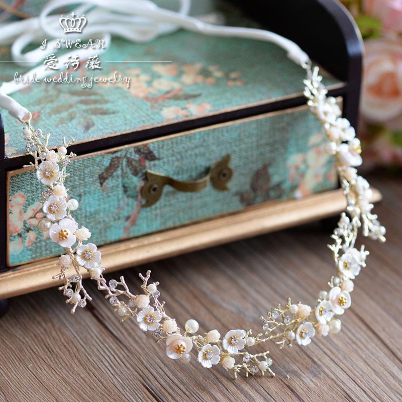 Diadema hecha a mano con flores de cristal y perlas, diadema con tiara de novias, tocado, accesorios para el cabello de novia