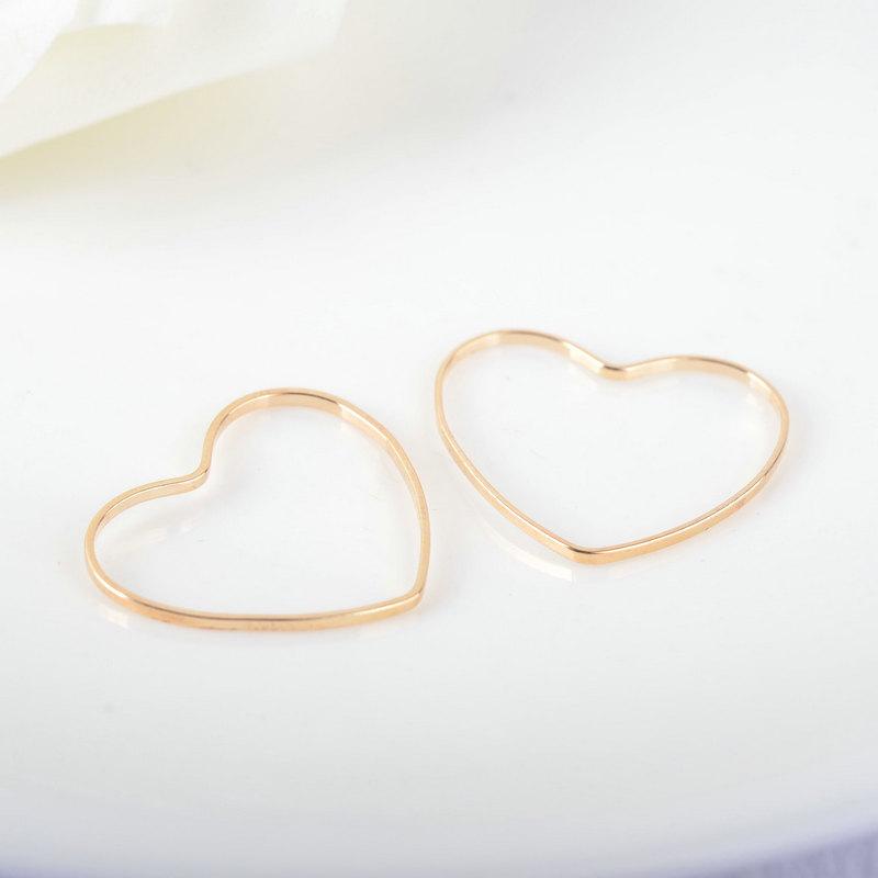 22*20mm de diâmetro de bronze em forma de Coração Anéis Fechados Conectar Anéis Jóias, As Descobertas Mais Cor Pode Ser Recuperada