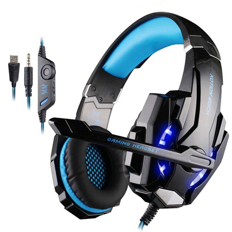 G9000 ruido cancelación de auriculares en la oreja auriculares de 3,5mm auricular Gamer PC Casque con Mic para computadora PS4 Xbox PC portátil