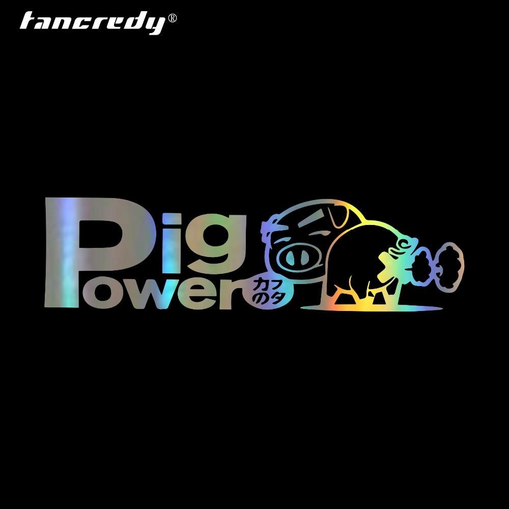 Calcomanías y calcomanías de 15,5*4,5 CM de cerdo Power Inside Blow Out para coche, pegatina de parachoques de coche con estilo, pegatina de vinilo para ventana impermeable
