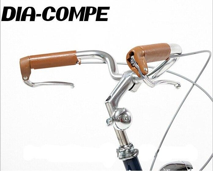 Palanca de freno de bicicleta vintage de DIA-COMPE, manija de freno de bicicleta, empuñaduras de goma, mango de freno de aluminio