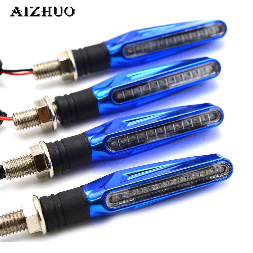 Luz de señal de giro Universal para motocicleta, indicadores, luz ámbar para Suzuki GSXR GSX-R 600 750 1000 K1 K2 K3 K4 K5 K6 K7 K8 K9