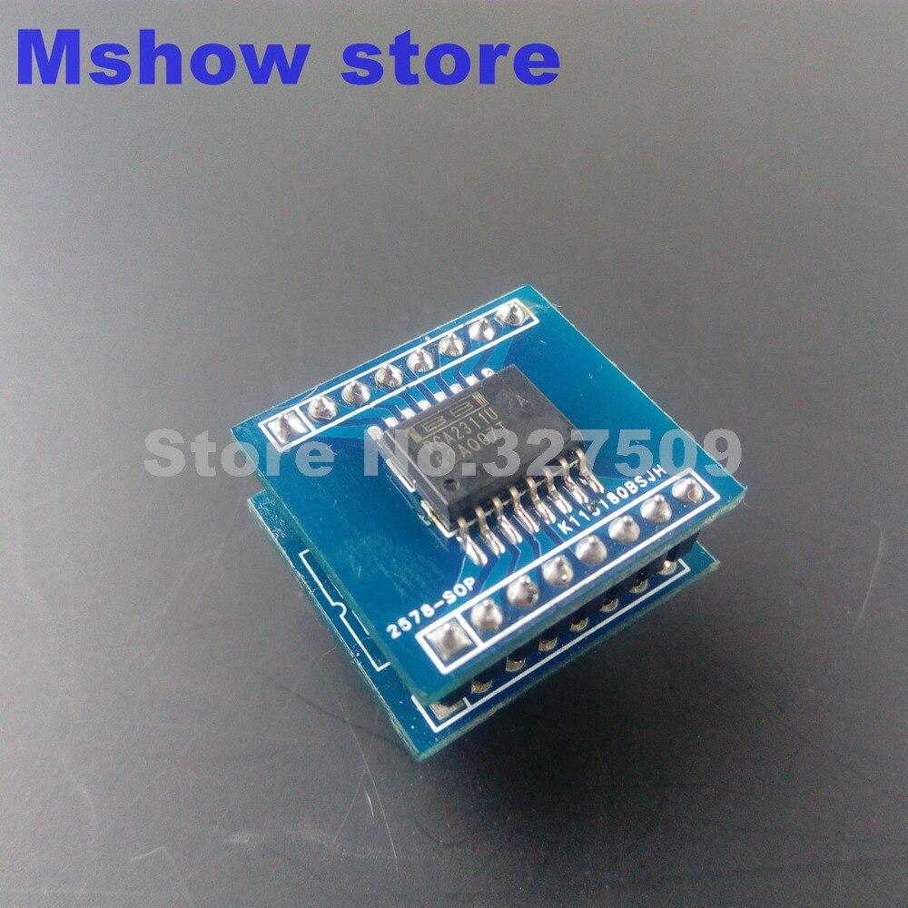Адаптер для микросхем PGA2311 PGA2311UA, адаптер SOP16 на DIP16, усилитель аудио hi-fi, 1 шт.