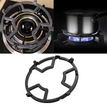 Evrensel dökme demir wok tava desteği raf standı brülör gaz sobası ocaklar ocak (siyah)