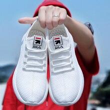 Nouvelle tendance baskets hommes à lacets vulcaniser chaussures bas haut plat partie chaussures respirant maille appartements toile chaussures pas cher blanc chaussures