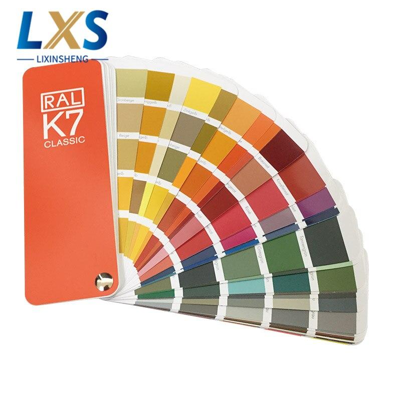 Оригинальная немецкая цветная карта RAL, Международная стандартная цветная карта Ral K7 для краски 213 цветов