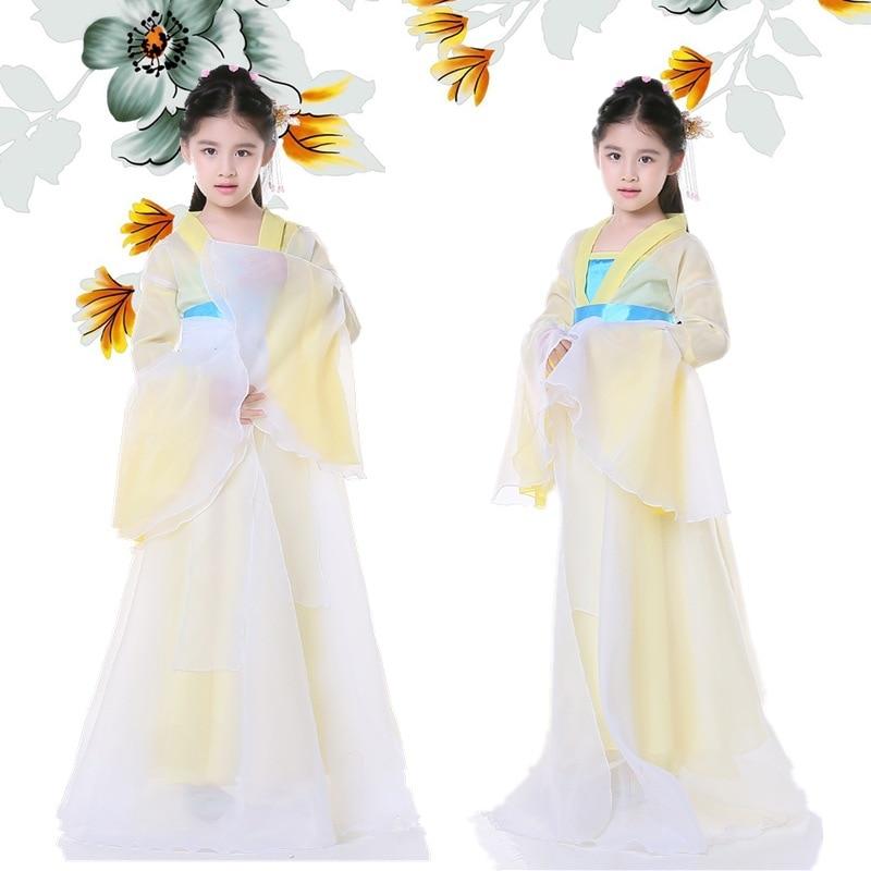 جديد وصول الأطفال الشعبية الصينية زي الصينية القديمة الملابس ل فتاة الأميرة تأثيري زي تانغ الملابس للأطفال 9