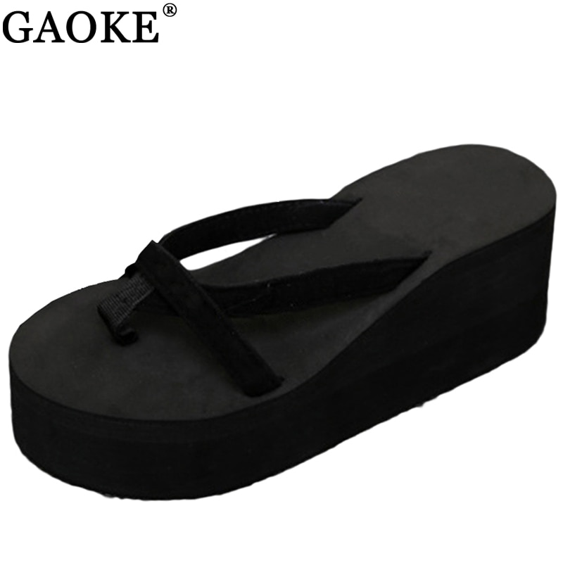 2020 sandalias de verano con cuña mujeres deslizamiento Flip Flops-Sandalias de playa zapatos de moda sandalias casuales de mujer zapatos de mujer Zapatos