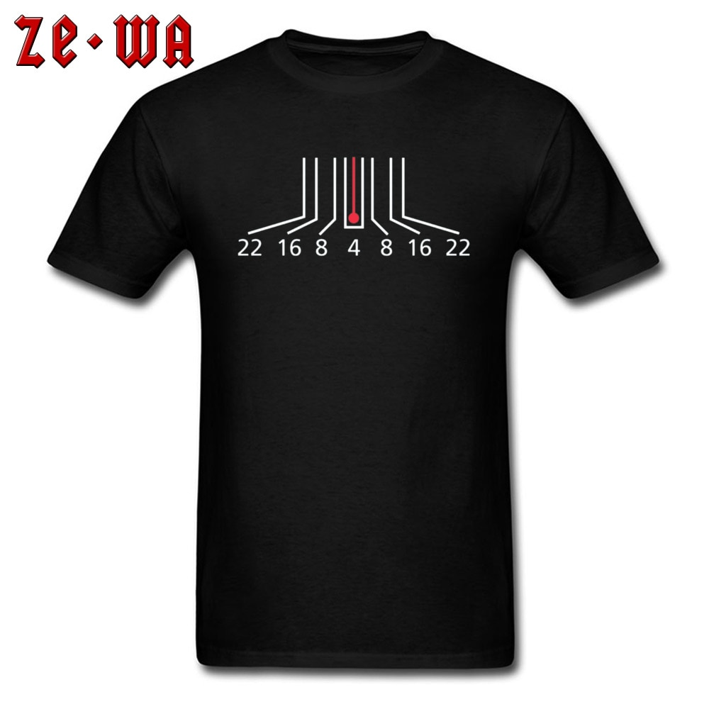 Camiseta con ventosa para cámara, camiseta informal para hombre, camiseta 2019 algodón, camiseta negra con profundidad de campo, fotografía, camiseta gráfica para estudiantes de High Street