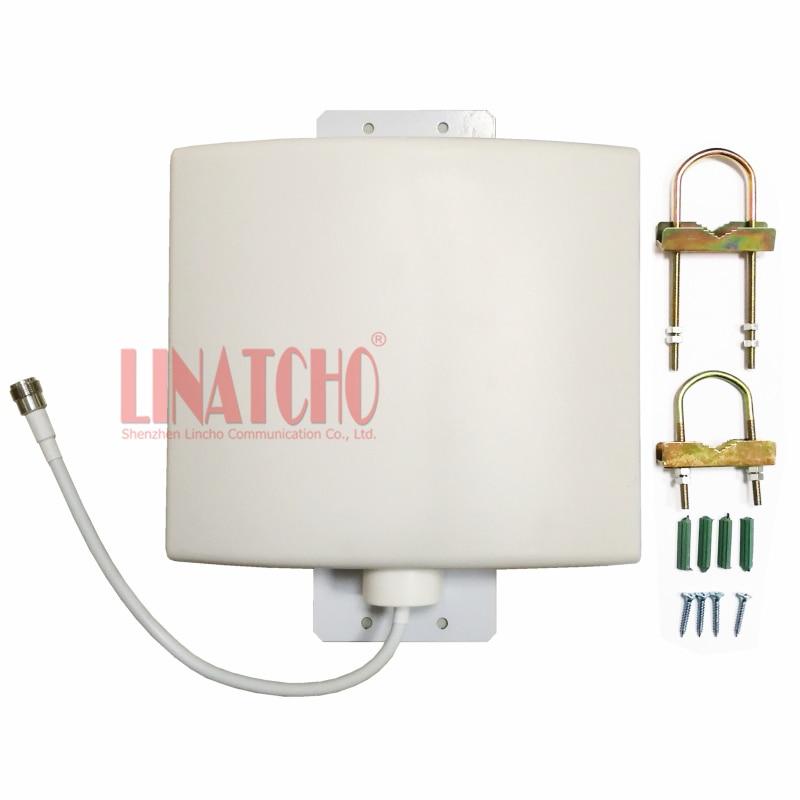 في الهواء الطلق مقاوم للماء 12dBi 800-2700MHz GSM 3G واي فاي LTE 4G مكرر إشارة هوائي لوحة مسطحة الاتجاه