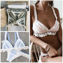 Spitze Splice Bikinis 2019 Neue Bademode Frauen Badeanzug Strand Badeanzug Maillot De Bain Femme Biquini Sexy Brazilian Bikini Set