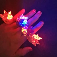 led party ledlightflashing finger ring elastic rubber ring event party supplies glow toys partyweddingchristmas products