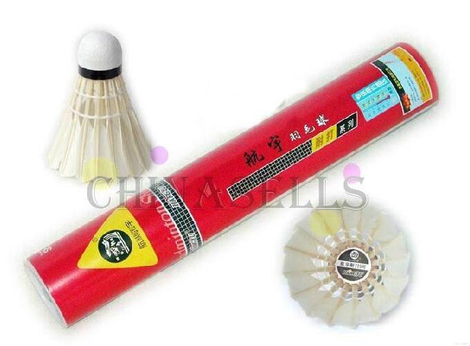 6tude подлинный hangyu бадминтон воланы прочный NO.5 Волан для бадминтона с утиным пером бадминтон мяч 12 шариков полет A