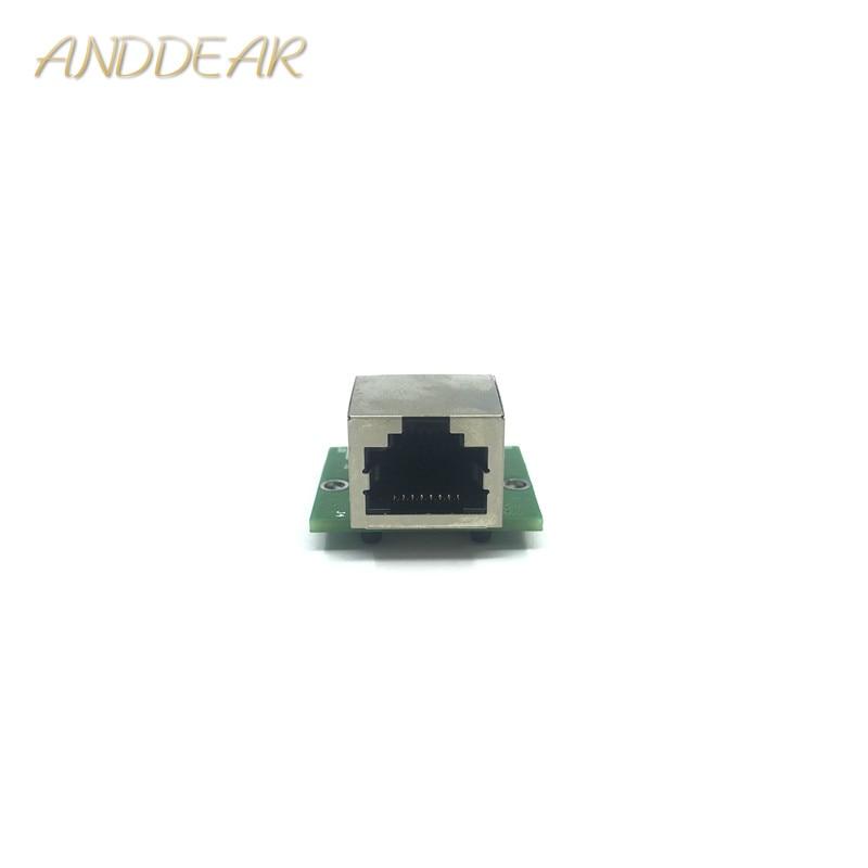 10/100/1000 mbps 표준 rj45 네트워크 포트-2.0 피치 핀 미니 어댑터 모듈 호환성 저전력 잡음 기가비트