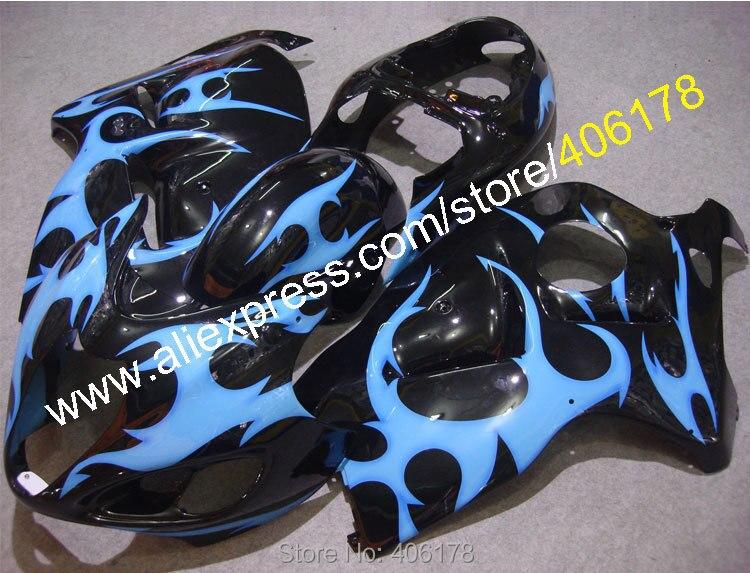 Hayabusa GSXR1300 99-07 GSX-R1300 1999-2007 Blue Flame Aftermarket Fairing kit (Injection molding)