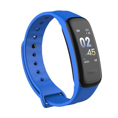 Pulsera inteligente C1, pulsera de fitness, pantalla a Color, Monitor de ritmo cardíaco a prueba de agua, medición de la presión arterial