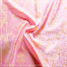 Tissu Jacquard Brocade métallique rose 100x75cm   Tissu africain teint en fil jacquard 3D, pour vêtements, literie, sac, rideau