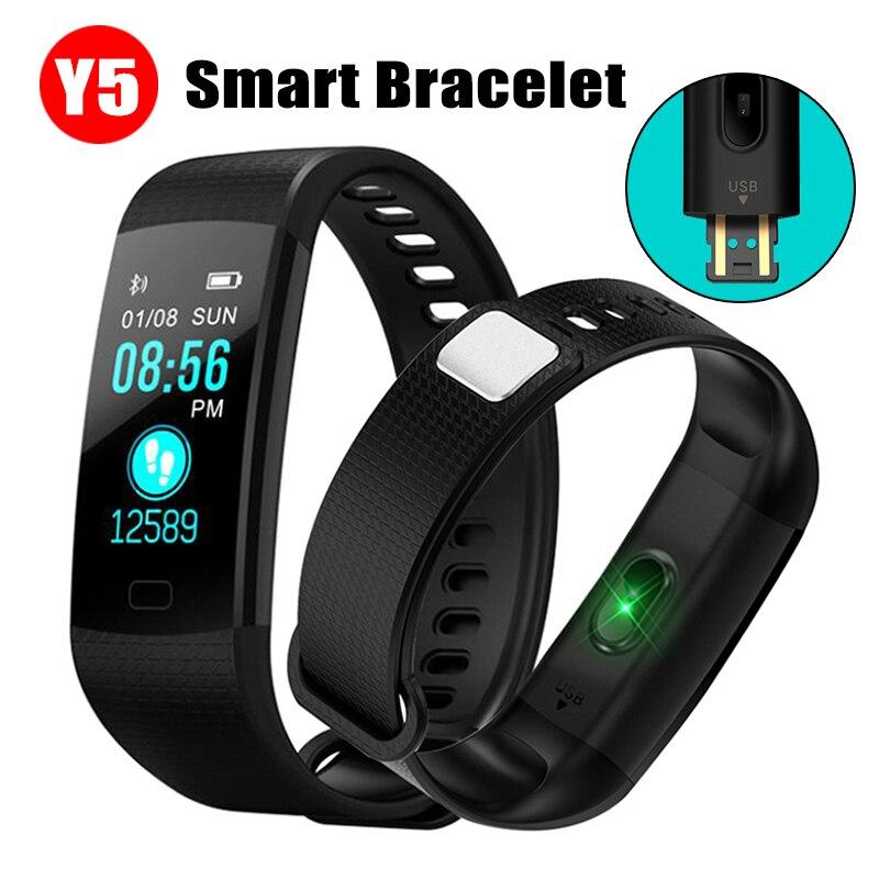 Y5 Smartband Smart Armband Band Herz Rate Tracker Wasserdicht Smart Armband Smart Uhr Männer Y5 Smart Fitness Tracker
