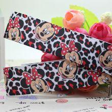 DHK 7/8 5 yards Mickey Minnie ripsband haar bogen diy party dekoration OEM Großhandel 22mm C1113