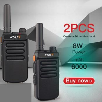 1 ou 2 pièces KSUN X65 talkie-walkie Scanner UHF talkie-walkie 10KM bidirectionnel jambon Radio Comunicador talkie-walkie