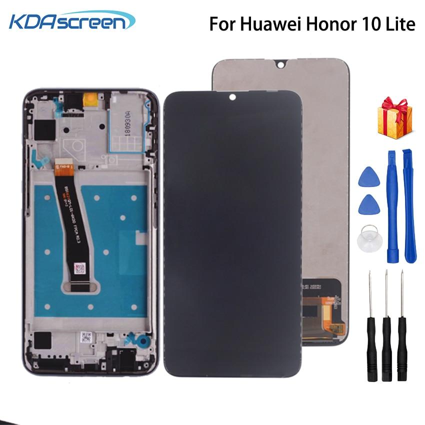 Para Huawei honor 10 Lite pantalla LCD Digitalizador de pantalla táctil con el marco para honor 10 Lite HRY-LX2 HRY-LX1 HRY-AL00 pantalla LCD