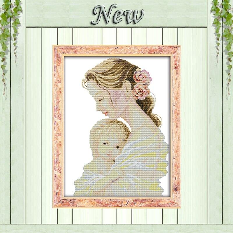 Mutter der zarte arme liebe baby decor malerei gezählt druck auf leinwand DMC 14CT 11CT Kreuz Stich Hand Sets Stickerei kits