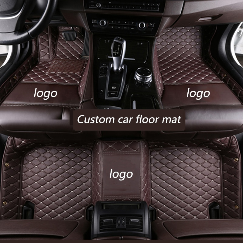 kalaisike Custom car floor mat for Hyundai santa fe ix25 solaris ix35 accent elantra veloster Genesis Veracruz tucson i30 sonata