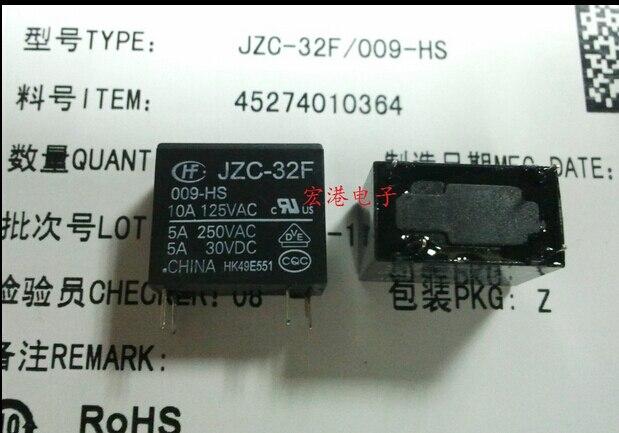 HOT NEW JZC-32F-009-HS JZC-32F-009-HS-9VDC JZC-32F 009-HS 009-HS-9VDC relé DIP4