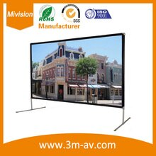 Fabrik-versorgungsmaterial 110 zoll Film Faltbare HD Projektor Bildschirm Mit Leinwand Material Kostenloser Versand Out-tür Bildschirm