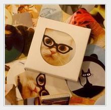 38 unids/lote Mini pegatinas creativas en caja de decoración serie gato pegatinas decorativas coreanas