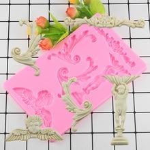 Moules de Fondant en Silicone   Gâteau artisanal du sucre, bordure dange Vintage, moule à chocolat, moule de décoration de gâteaux, outils de cuisson