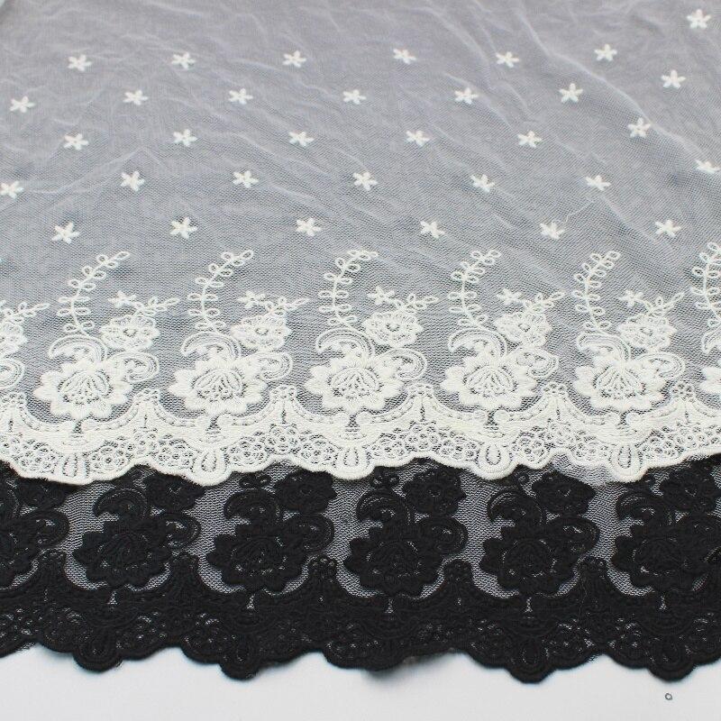 Хлопчатобумажный пошив кружевных тканей YACKALASI с цветочной аппликацией, кружевной 3D узор в виде бабочки, звезд, цветов, отделка одежды «сделай сам», волнистая, 43 см