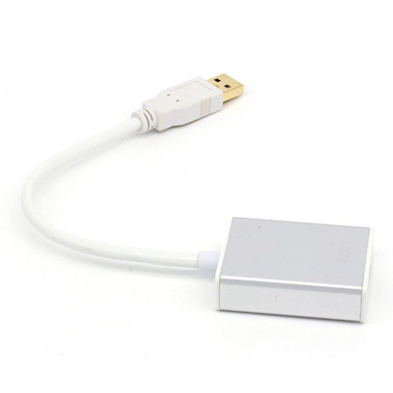 Novo USB 3.0 Para HDMI Adaptador De Cabo de Vídeo HD 1080 p Conversor Para PC Portátil HDTV TV PVC
