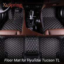 Car Interior Floor Mat Pad Cover Foot Cushion Protective Case For Hyundai Tucson TL 2015-2019 3TH LHD