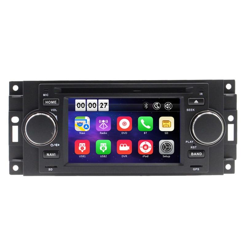 """5 """"reproductor de DVD de coche para Chrysler 300C PT Cruiser Dodge Jeep, Ram Grand Cherokee con navegación GPS Radio Bluetooth iPod USB mapa"""