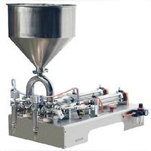 Venta directa de fábrica de doble cabezal semiautomático máquina de llenado de mermelada/crema 1000-3000ML
