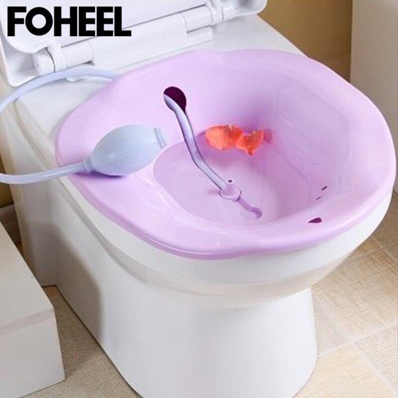 FOHEEL bidé Squatting Baño de cadera bañera Flusher lavabo para maternidad mujeres embarazadas hemorroides pacientes Baño