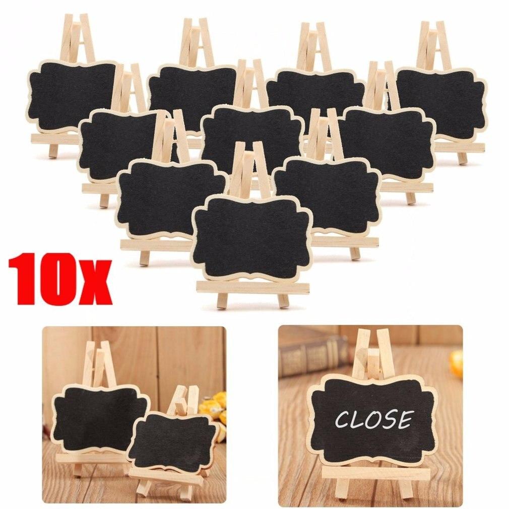 10 unids/set de madera Mini pizarra soporte para pizarra boda decoraciones de mesa para fiestas etiqueta nueva Z07 de la nave de la gota