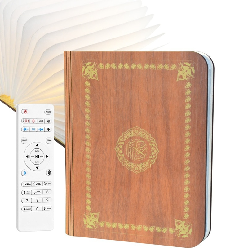 Led Book Lamp Quran Speaker Color Changeable By Remote Control Rechargeable Latest Product For Muslim To Learn Quran Hajj New enlarge